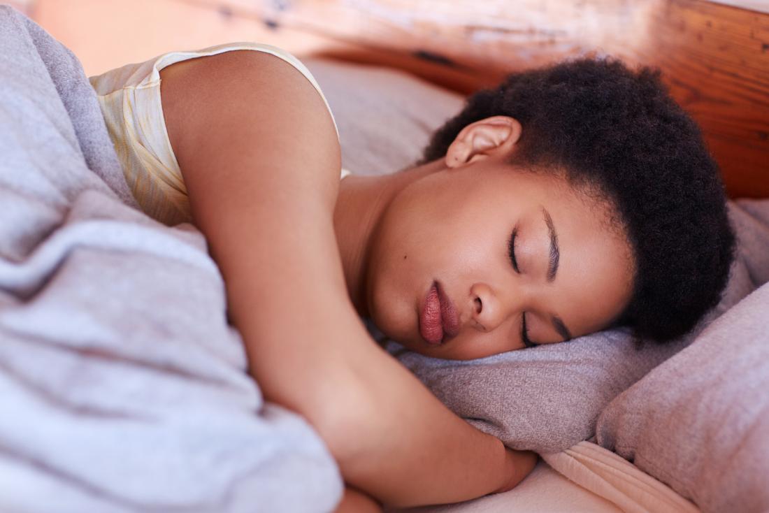 Woman in a deep sleep