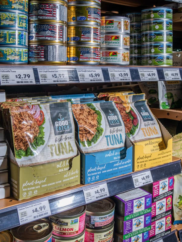 Good Catch Tuna, made from plants, is available at Whole Foods.