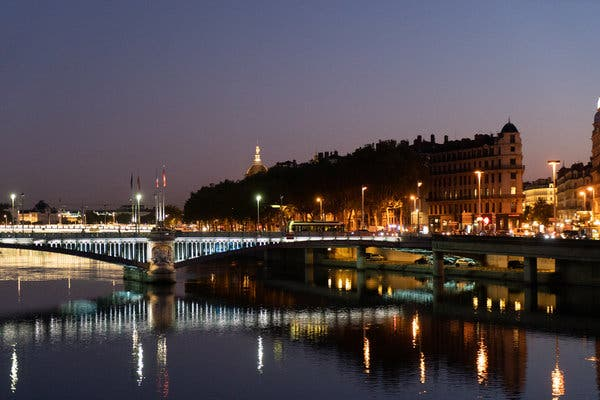 Lyon transforms into a magical light show after the sun sets.