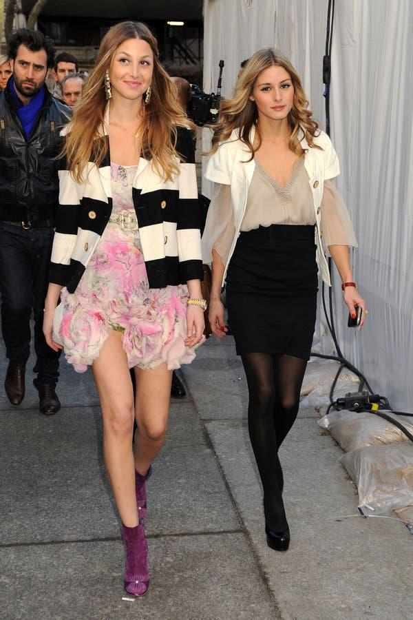 Whitney Port and Olivia Palermo, on February 15, 2009.